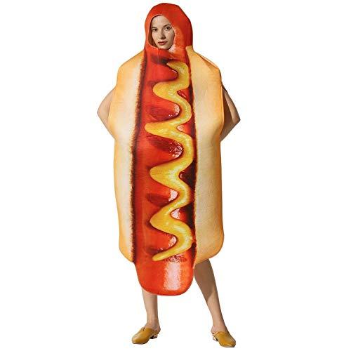 Unisex Hot Dog Cosplay Disfraz Fancy Vestido Juego de Navidad Cosplay Vestido de regalo Cosplay para Halloween (Color : Hot Dog)