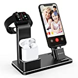 YoFeW Charging Stand for Apple Watch Charger Stand Aluminum Dock Station Compatible for iWatch Apple Watch Series 5/4/3/2 / 1/ AirPods/AirPods Pro/iPhone X/XS/XS Ma /8 / 8Plus / 7/7 Plus /6S