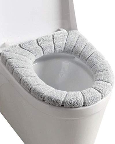 Yunni 4 Stück WC Sitz Beheizt WC-Sitzwärmer Toilettensitz Abdeckung,Toilettensitzabdeckung Waschbar Toiletten Sitzbezug/weich/Dicker/waschbar/dehnbar
