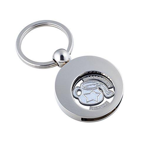 Preisvergleich Produktbild Jadani Hochwertiger Schlüsselanhänger mit EK-Chip Sternzeichen Wassermann