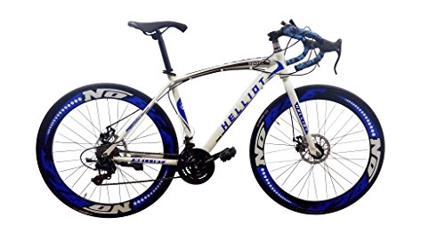 Helliot Bikes Sport_02 Bicicleta de Carretera, Unisex Adulto, Azul/Blanco, Estándar