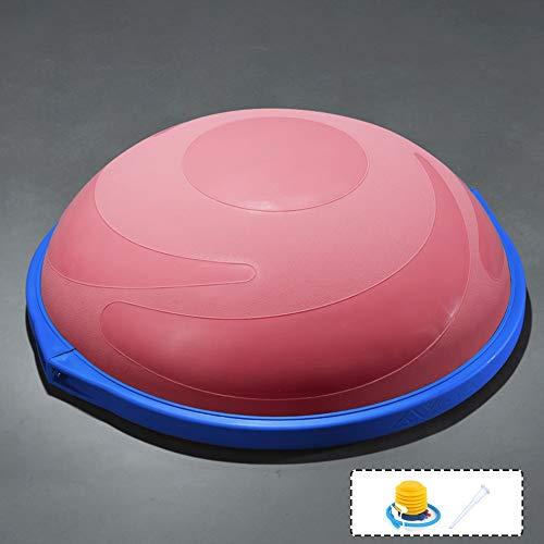ZYHA Balance Trainer Fitball Bola de Equilibrio para Entrenamiento,Media Pelota Fitness–Tabla de Equilibrio con Cuerdas de Tensión–Puede Usarse en Ambos Lados–62Cm– Máx. Peso de Usuario 120 Kg