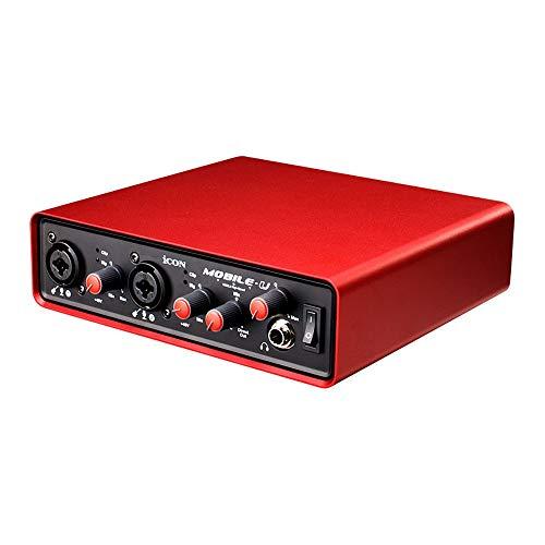 MMFXUE Externe Soundkarte, multifunktionale Live-Soundkarte, Dual-DSP-Rauschunterdrückung-Chip für Live-Übertragung von Online-Gesangsaufzeichnungen für Smartphones