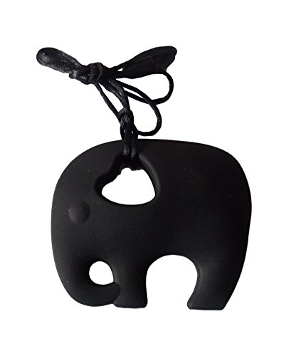 Collana da mordere per bambini e neonati con elefante, giocattolo per bambini con autismo o ADHD