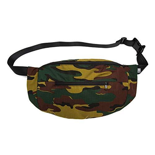 PP-BERLIN Bauchtasche groß Camouflage | handgemacht & vegan | Militär Gürteltasche XXL | Army Hip Bag | Festival Cross Bag | Hüfttasche Damen & Herren