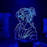 Anime ataque de luz em Titan 4 años de decoración de casa USB luz decoração do Quarto Sensor movimento luz led luminaria 7 colores no remoto