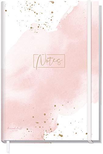 Notizbuch A5+ blanko mit Gummiband [Blush] von Trendstuff by Häfft | 156 Seiten, 78 Blatt | als Bullet Journal, Skizzenheft/Skizzenbuch, Tagebuch, Notizheft | nachhaltig & klimaneutral