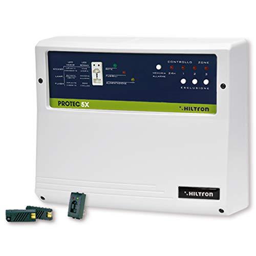 Hiltron PROTEC5X Centrale ANTIFURTO 3 Zone+24H con Chiave Elettronica