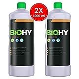 BIOHY Creme Seife 2 x 1 Liter Flaschen | Hautschonende, rückfettende und geruchsneutrale Handseife...