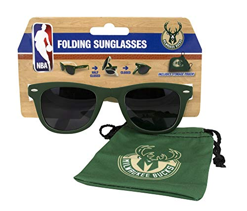 Milwaukee Bucks Folding Sunglasses with Carrying Pouch