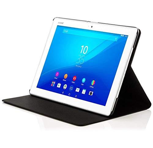 Forefront Cases Smart Hülle kompatibel für Sony Xperia Z4 10,1 Zoll Tablet-PC Hülle Schutzhülle Tasche Case Cover - R&um-Geräteschutz Auto Schlaf Wach Funktion + Stift und Bildschirmschutz (Schwarz)
