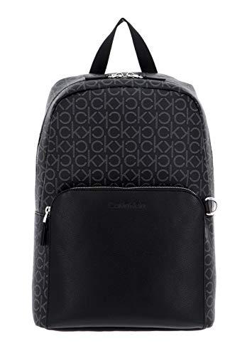 Calvin Klein Round Backpack Black Mono Mix