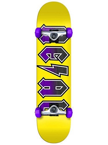 Real Skateboard Komplett New Deeds Sm - 7.5 Inch Gelb-Purpur (One Size, Gelb)