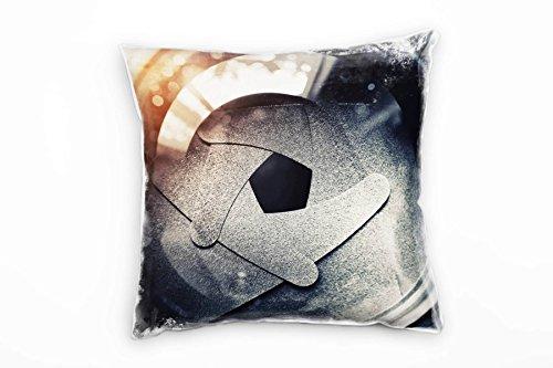 Paul Sinus Art Macro, diafragma, oude camera, oranje, grijs decoratief kussen 40x40cm voor bank sofa lounge sierkussen - decoratie om je goed te voelen