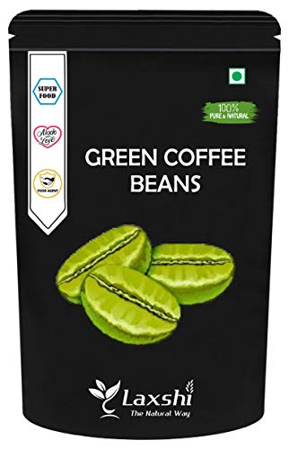 Laxshi Natural Green Coffee Beans Arabica Grade – AAA for Weight Loss | Weight Management – 200 GM