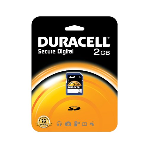 of duracell micro sd cards Duracell 2 GB Class 2 Secure Digital Card DU-SD-2048-R