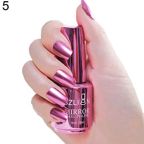 Metallic Nail Polish Magic Mirror Effect Chrome Harmless Long-Lasting Varnish for Professional Nail Art - 5#