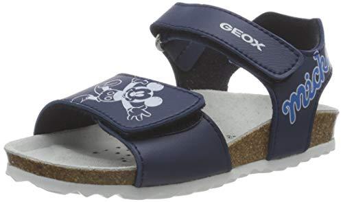 Geox Baby-Jungen B CHALKI Boy Flat Sandal, AVIO/WHITE, 24 EU