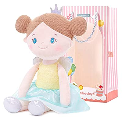 Gloveleya Dolls First Baby Doll Plush Girl Gifts Stuffed Angel Yellow 15 Inches