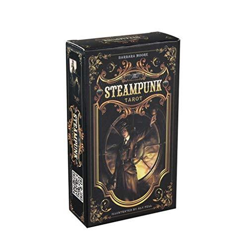 planuuik 78 Piezas The Steampunk Tarot Cards Deck Family Party Juego de Mesa Adivinación Tarot Oracle Playing Card