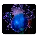 (Precision Seamed Mouse pad) Sela Unique Custom Rectangle Mouse Pad Extended,Navy Blue Jellyfish,Gaming Large Mouse pad Mat PM0844