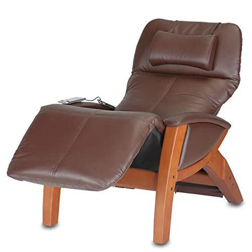 maxVitalis Massagesessel mit Wärmefunktion, Vibrationsmassage, Relaxsessel elektrisch verstellbar, bequemes Massagemöbel, moderner Fernsehsessel, Kunstleder-Sessel, bis 120 kg (Braun)