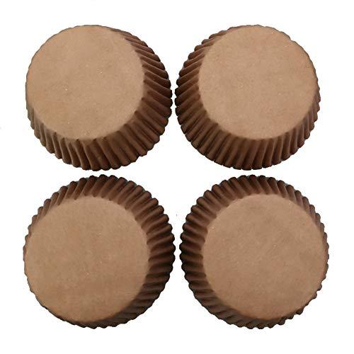 iKulilky Backenschale,Muffins,Kekse,Pappbecher Hitzebeständig,Ölbeweis Braune Pappbecher 100 Paquetes Pasteles Geschenkpapier