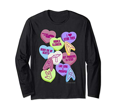 Star Trek Candy Hearts Valentine's Day Long Sleeve Tee