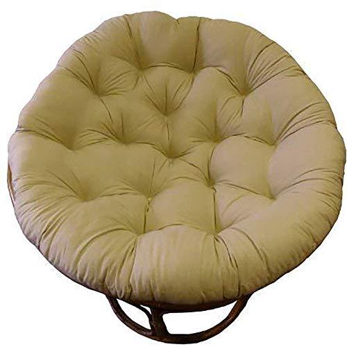JBNJV Cojín para Silla de algodón Columpio Egg Soulant Cojín Grueso para Silla Cojín de Repuesto Suave y cómodo sin silla-105x105cm Marrón Claro