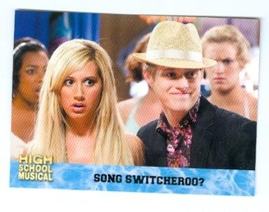 Ashley Tisdale and Lucas Grabeel trading card High School Musical 2006 Topps #44