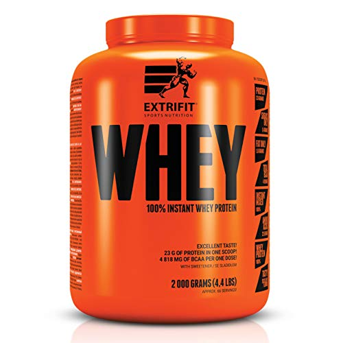 Extrifit 100% Instant Whey Package of 1 x 2000g – Whey Protein Concentrate – Protein Powder – 23g Protein in One Portion – Amino Acid – BCAA – Sport Supplement (Salted Caramel)