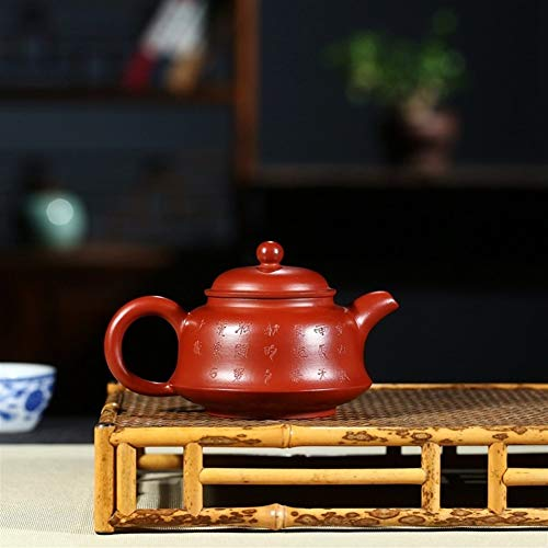 Teapot Kung Fu Purple Clay Tea Sets Fine Ore Teapot Hand-Lotus Bird Fun Big Red Teapot Teapot Tea LEBAO (Color : Big red Pouch)
