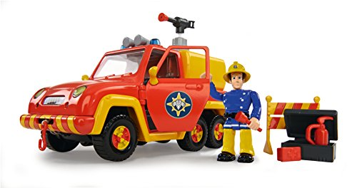 Simba 109251054 - Feuerwehrmann Sam Feuerwehrauto Venus mit Figur