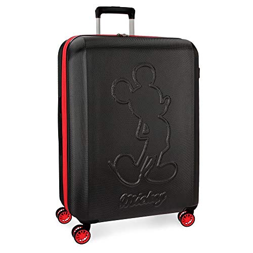 Disney Mickey Colored Valise Grande Noir 45x68x27 cms...