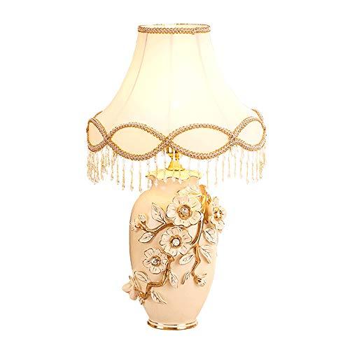 HNWNJ Lámparas de Escritorio Personalidad de cerámica lámpara de Mesa romántico del Estilo Europeo de la Sala decoración del Dormitorio lámpara de Escritorio (Color : B)