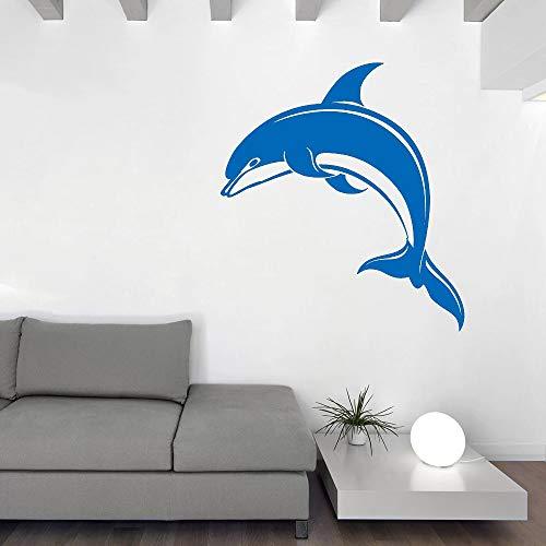 Tianpengyuanshuai Groot vinyl muur decal dolfijn soort zee dier aquarium sticker interieur kunst eenvoudig schattig leuk