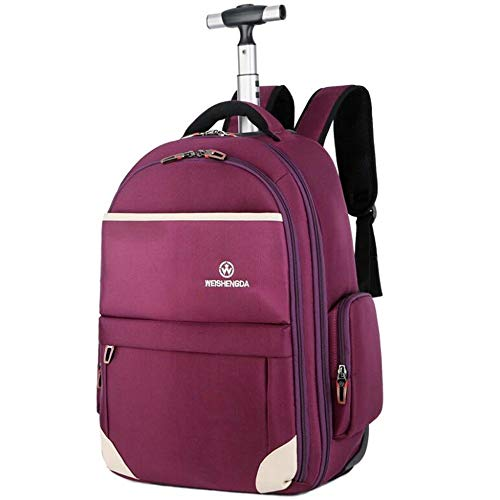 Trolley Borsa In Tessuto Oxford Borsa A Tracolla Unisex In 21 Pollici Business Computer Bag Pulley Rolling Travel Suitcase (Color : Purple, Size : 19 inches)