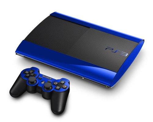 Blue Chrome Mirror Vinyl Decal Faceplate Mod Skin Kit for Sony PlayStation 3 Super Slim Console by System Skins