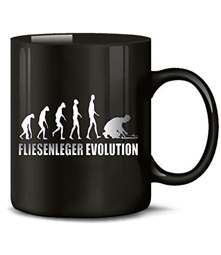 Fliesenleger Evolution Tasse Becher Kaffeetasse Kaffeebecher Kaffeepott geschenk zunft Geburtstags geschenkidee mug werkzeug zubehör profi gadget gesellenprüfung Bedarf ausrüstung zubehör prüfung set