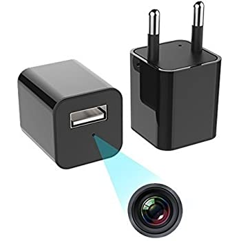 IFITech - 1080p HD Hidden Camera, Plug USB Charger with SD Card, Supports 2 Mode Recording, Nanny cam |Home, Kids, Baby, Pet Monitoring (NoSD Card)