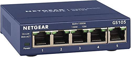 NETGEAR 5 Port Gigabit Ethernet Unmanaged Network Switch (GS105UK) -...