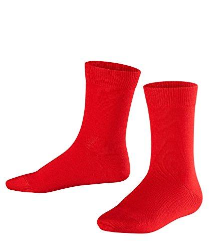 FALKE Unisex Kinder Family K SO Socken, Blickdicht, Rot (Fire 8150), 23-26