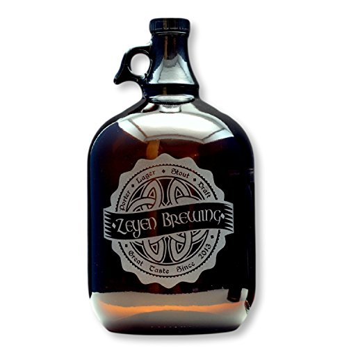 Personalized Homebrew Growler with Irish Celtic Knot Brewing Engraved Label Growler