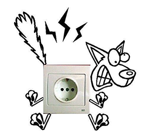 Demarkt Wandtattoo für Lichtschalter Hund Dekoration