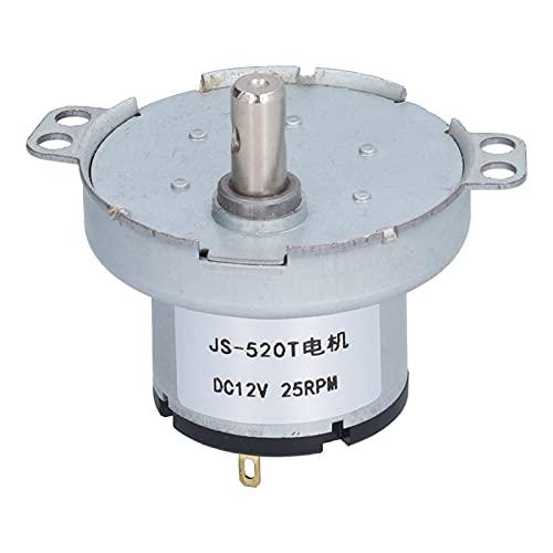 YIUS Motor de CC JS-520T Motor eléctrico de bajo ruido y peso ligero para calentadores de aire acondicionado CC12V 25RPM