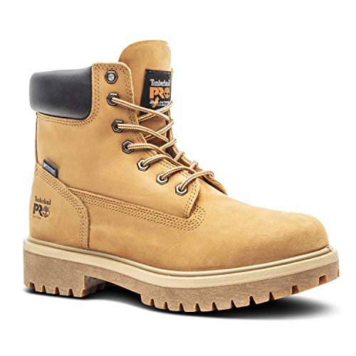 Timberland PRO Men's Direct Attach Six-Inch Soft-Toe Boot, Wheat Nubuck,10 M