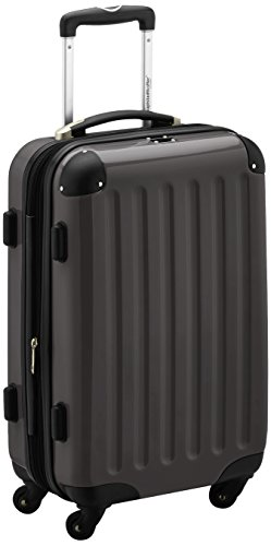 HAUPTSTADTKOFFER - Alex- Carry on luggage On-Board Suitcase Bag Hardside Spinner Trolley 4 Wheel Expandable, 55cm, graphite