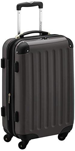 HAUPTSTADTKOFFER - Alex - Handgepäck Hartschalen-Koffer Trolley Rollkoffer Reisekoffer Erweiterbar,  4 Rollen, 55 cm, 42 Liter, Graphit