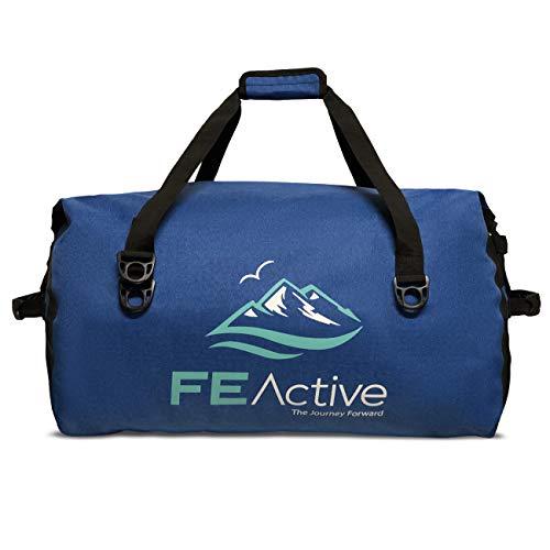 FE Active Waterproof Duffle Bag - 60L Large Dry Bag Duffel Bag Backpack Travel Bag for Camping, Hiking, Gym Bag, Kayak Bag, Fishing, Boating, Scuba Diving and Beach Bag | Designed in California, USA