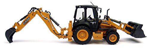 Case 580 ST Backhoe Loader, Features Include:, Diecast Metal Construction Some Plastic Parts, Nicely Detailed Mirrors, Lights Wipers, Detailed Operators cab seat Controls, Realistic Hydraulics and
